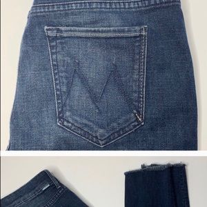 Mothers High Waisted Looker Ankle Fray Jeans Sz 29